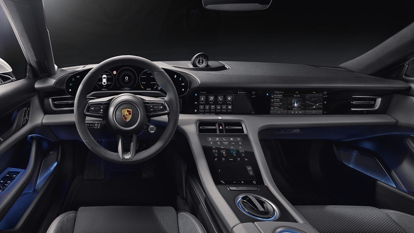 Nouvelle Porsche Taycan 2019 : voici l'intérieur